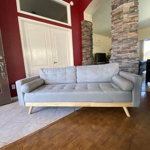 """Grey Sofa Brand New 75"""" Wide By 30"""" Deep By 31"""" Tall Grey Mid Century Modern for Sale in Glendale, AZ"""