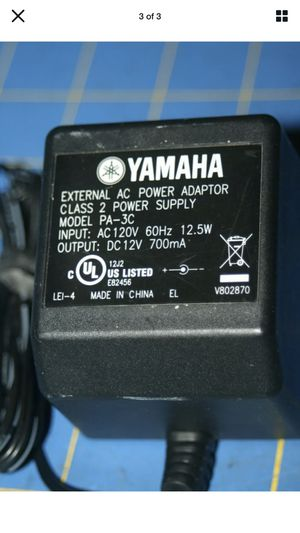 Yamaha PA-3C 12 Volt Keyboard Power Supply Music Plug Cable for Sale in Rancho Murieta, CA