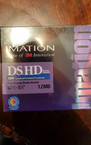20 New In Package Vintage Imation Disks - 2 Sets of 10 for Sale in Baytown, TX