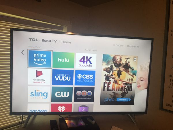 49 inch 4K TCL Roku Smart TV