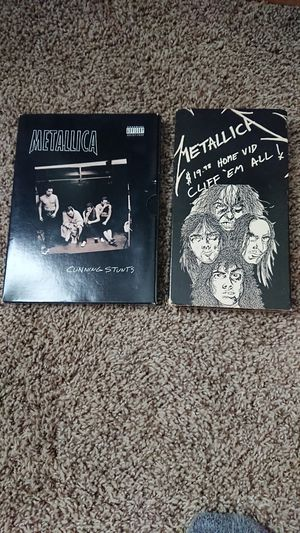 Metallica Cunning Stunts DVD and Cliff'em all VHS for Sale in Minneapolis, MN