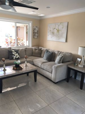 Sectional and dining table for Sale in Fort Lauderdale, FL