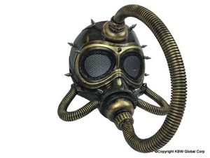 Steampunk Pirate Submarine Gas Mask with Tubes and Spikes Halloween costume industrial goth gas mask for Sale in Ontario, CA