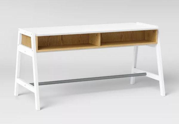 NEW - OPEN-BOX - MID-CENTURY KIDS ACTIVITY TRESTLE TABLE/DESK