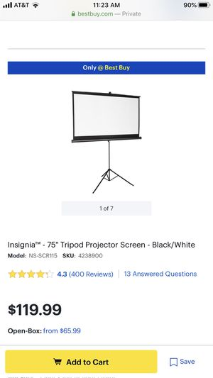 Like new projector screen for Sale in Fremont, CA