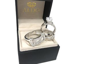 REAL WHITE GOLD ✨ Trio Wedding Rings ✨ TAKE IT HOME NOW PAYING $50 Initial Payment for Sale in Kissimmee, FL