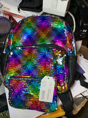 New small set back pack & coin purse $38.black & sequence for Sale in Las Vegas, NV