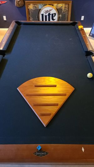 Diamond shaped wood baseball card holder with slots. for Sale in Belleville, IL