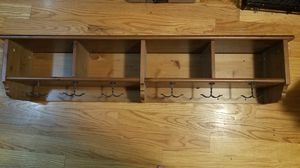 Wall shelves with hangers 49 inches across for Sale in Aurora, IL