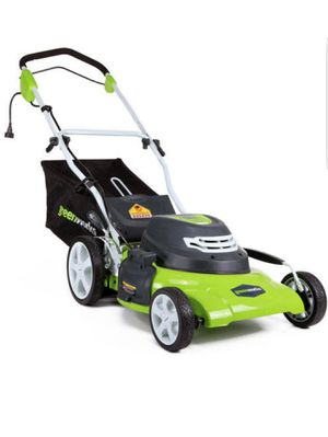 GreenWorks Corded 12 Amp 20-Inch Lawn Mower used 5 times only for Sale in Bellevue, TN