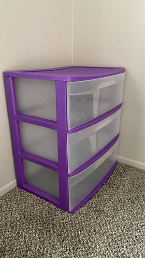 Plastic Drawers clean and in very good condition for Sale in Canton, MI