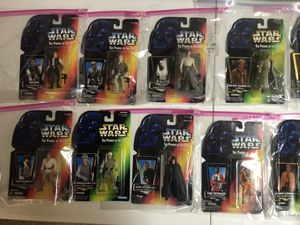 50 Brand new Kenner/Hasbro Star Wars Action Figures + extras for Sale in Hamilton, OH
