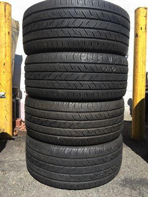 255/45/18 continental set of used tires in great condition 70% tread 225$ for 4 . Installation balance and alignment available. Road force balance a for Sale in Union, NJ