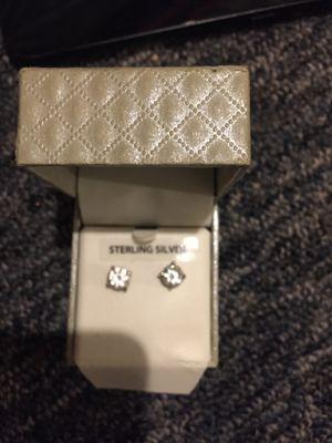 Silver diamond earrings for Sale in Marietta, GA