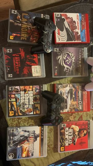 PS3 Game Bundle with 5 controllers for Sale in Lodi, CA