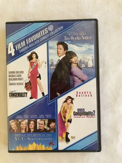 4 Film Favorites Sandra Bullock Comedy Collection for Sale in Tempe,  AZ