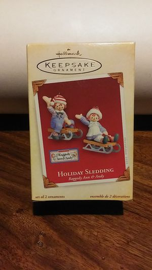 Raggedy Ann & Andy 2005 Keepsake ornament set!! for Sale in Tempe, AZ
