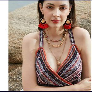 Bohemian Gold Plated Shell Charms Three Multi-layer Necklace Set for Sale in Los Angeles, CA