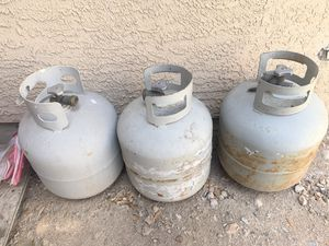 Empty propane gas tanks $15 each or $40 all 3 for Sale in Las Vegas, NV