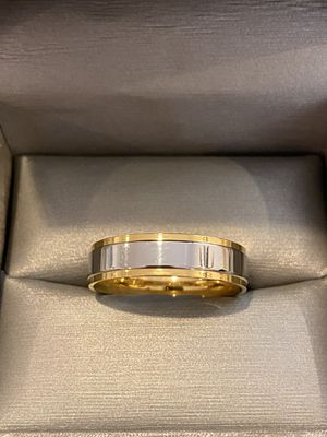 Unisex 18K Gold plated engagement Ring—code Stripe3001 for Sale in Washington, DC