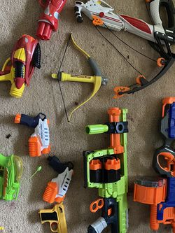 Set of Nerf Guns (9 Used) for Sale in Pleasanton,  CA