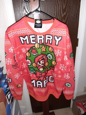 Nintendo Mario Holiday Sweater M & XL for Sale in Fort Wayne, IN