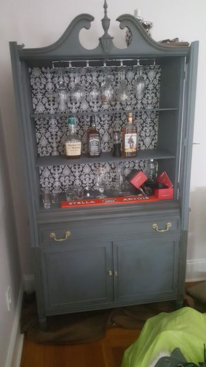 Beverage cabinet with stem glass rack for Sale in Dearborn, MI