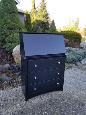 Modern black secretariat desk dresser for Sale in Lake Stevens, WA