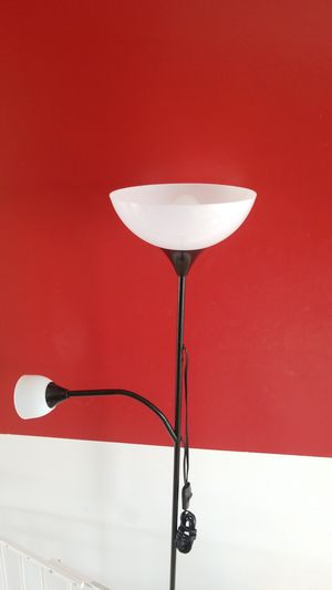 IKEA Combo Floor Lamp with Adjustable Reading Lamp - Black for Sale in Chesapeake, VA