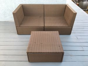 Ikea solleron patio furniture corner pieces and table for Sale in Phoenix, AZ