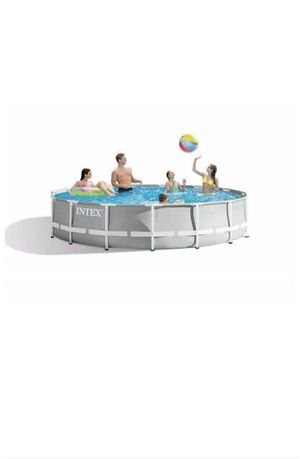 Intex 15ft x 42 in Prism Frame Above Ground Pool with filter for Sale in Columbia, MD
