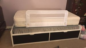 Twin bed frame includes mattress and box, 2 large Drawers for Sale in Manassas, VA