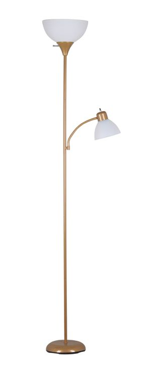 72'' Combo Floor Lamp with Adjustable Reading Lamp, Gold for Sale in Houston, TX