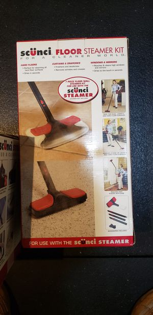 Scunci Handheld Steamer with Floor attachments for Sale in Rockville, MD