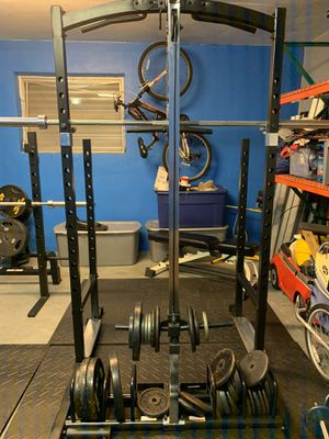 Marcy Weight Bench Cage Home Gym with weights, 15lb dumbbells, for Sale in Tamarac, FL