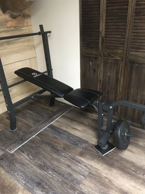 Weight Ab & Core Trainers Marcy Standard Bench w/ 100 lb Weight Set Home Gym Workout Equipment for Sale in Belle Vernon, PA
