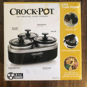 Crock-Pot Little Triple Dipper for Sale in Pompano Beach, FL