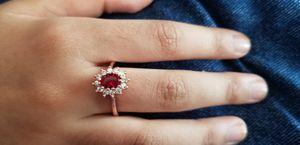 Ruby's stone white and red color flower Rose gold Ring size 7and 8 for Sale in Chicago, IL