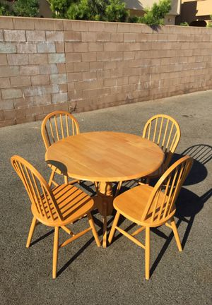 ****Dining Table & 4 Chairs****Wood**** for Sale in Costa Mesa, CA
