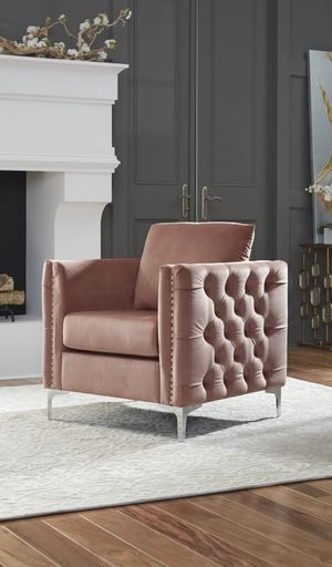New Lizmont Blush Pink Accent Chair for Sale in Houston, TX
