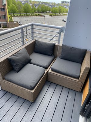 Outdoor seating furniture with cushions for Sale in Boston, MA