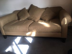 Couch & 2 floor lamps for Sale in Scottsdale, AZ