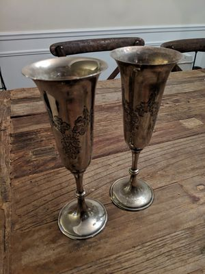 Metal wine champagne flutes cup goblet. Good for decoration. for Sale in Alexandria, VA
