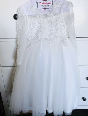 White Long Sleeve Tulle Dress for Sale in Compton, CA