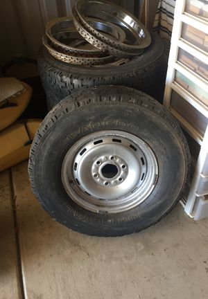 Four Uniroyal tires and 16 inch rims for Sale in Clovis, CA