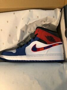 Air jordan 1 Mid rush blue university red size 9 for Sale in Whittier, CA