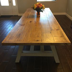 Custom Farmhouse Table - Dining Table for Sale in Tampa, FL