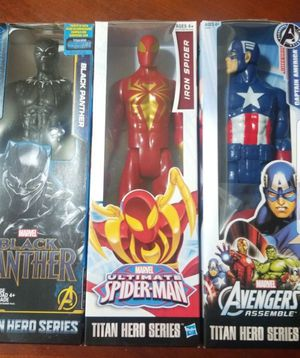 3 Kid's Toy's Marvel Spiderman Captain America Black Panther for Sale in South Gate, CA
