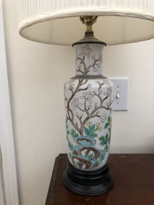 Antique lamp - beautifully hand painted for Sale in Morrisville, NC