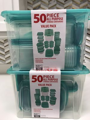 100 piece storage containers **NEW** for Sale in Carrollton, TX